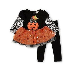9 Months Rare Editions Halloween Pumpkin Outfit